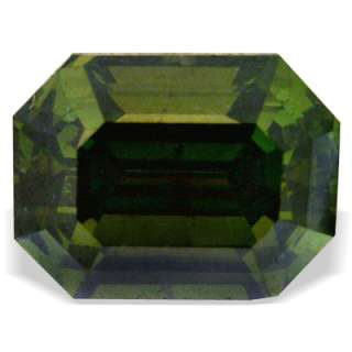 59 ctw PINE GREEN EMERALD CUT LOOSE NATURAL DIAMOND