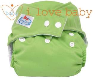 Green Baby Reusable Cloth Pocket Diaper Nappy +1 Insert