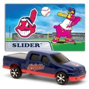 MLB 1:87 Scale Ford F 150 with Team Mascot Sticker   Indians (2 Packs)