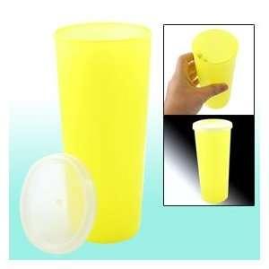450ml Capacity 3 Dia Yellow Plastic Airtight Water Bottle