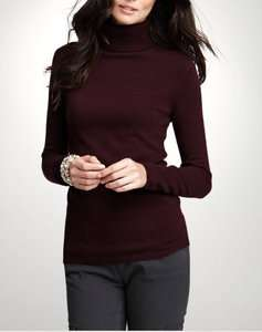 NWT Ann Taylor Womens 100% Cashmere Turtleneck Sweater, XS X Small 0/2