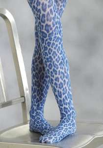 Roper Boots Girls Royal Blue Leopard Tights Footed Leggings Small