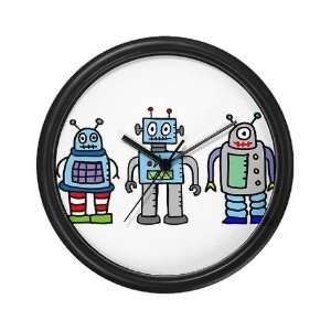 Robot Family Art Wall Clock by CafePress Home & Kitchen
