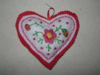 Mama Mias handmade embroidered HEARTS pin cushion