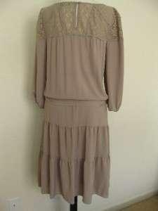 NEW BCBG MAX AZRIA ROBI BLOUSON DRESS bohemian inspired Lace yoke