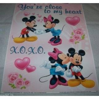 Disney Minnie & Mickey Mouse Love & Hearts Valentines Day Window