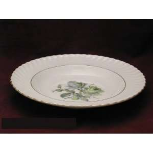 Royal Tettau Green Rose #ROT 2 Rim Soup Bowls Kitchen