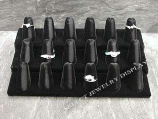 display item 245 18 bk black velvet ring finger display description