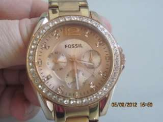 2811 Womens Riley Rose Goldtone Plated Stainless Steel Crystal Watch