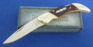 Rough Rider Small Lockback Knife Red Jigged Bone RR276