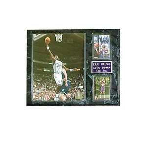 NBA Lakers Karl Malone # 32. Two Card Player Plaque