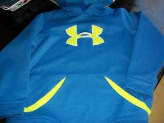 Boys Under Armour Hoodie~ Blue w/ Neon~ Size YXL Youth ~GUC! Nice