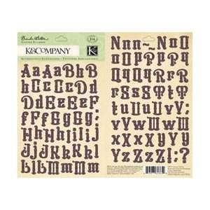 K & Company Flora & Fauna Glitter Stickers Alphabet; 3
