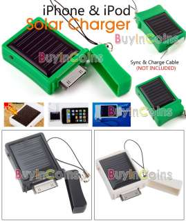 Solar Power Charger for iPhone 3G 3GS iPod Nano Touch
