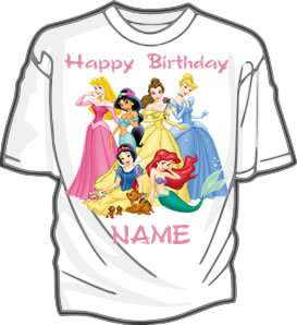 Disney Princesses Personalized Party Favor T Shirt Kids