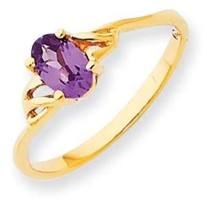 Rhodolite Garnet Birthstone Ring in 14k Yellow Gold
