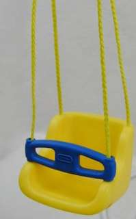 Little Tikes DOLL HOUSE SIZE Yellow Swing Hanging Porch Tree Vintage