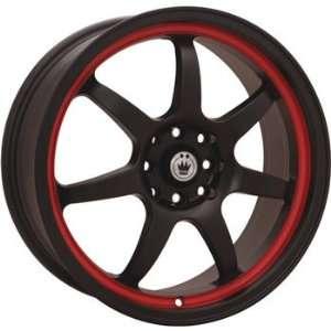 Konig Forward 15x6.5 Black Red Wheel / Rim 4x100 with a 38mm Offset