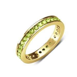 50cttw Natural Round Peridot (AA+ Clarity,Yellow Green Color) Channel