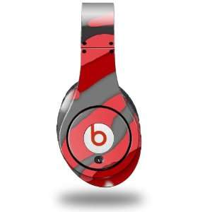 Camouflage Red Decal Style Skin (fits genuine Beats Studio