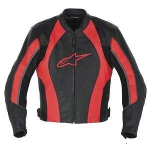 Alpinestars Octane Red Leather Motorcycle Jacket