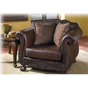 Traditional Thyme Leather Chair and 1/2 Wisconsin Living Room Chairs