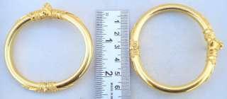 VINTAGE ANTIQUE SOLID 22 CARAT GOLD BRACELET BANGLE PAIR RAJASTHAN