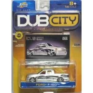 Jada Dub City Silver Ford F 150 1:64 Scale Die Cast Car
