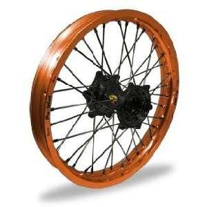 Pro Wheel Pro Wheel 4.25x17 Super Moto Rear Wheel   Black Hub/Orange