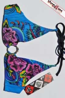 Ed Hardy Swimsuit With Stones EHT02DRR DRAGON ROSE
