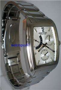 KENNETH COLE REACTION Mens 3 EYE ALL STAINLESS STEEL MULTI FUNCTION