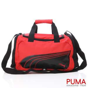 BN PUMA Compactable Small Duffle Gym Bag Red/Black