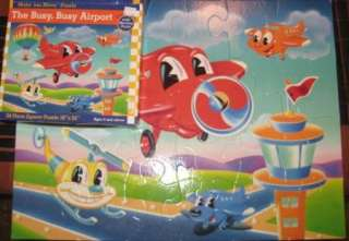 BUSY BUSY AIRPORT Jay Jay Jet Plane FLOOR Puzzle