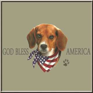 God Bless America Beagle T Shirt S,M,L,XL,2X,3X,4X,5X USA U.S. Flag