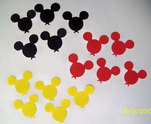 15 Mickey Mouse Balloons ~*~ Cricut Die Cuts Disney