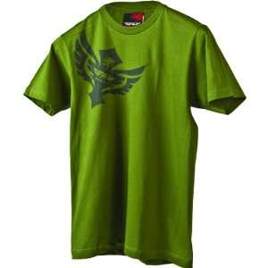 Fly Racing Badge Mens Short Sleeve Race Wear Shirt   Olive / Small