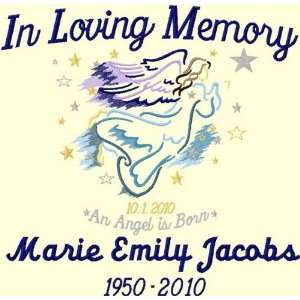 In Loving Memory Throw Angel Personalized 3 Lines Custom