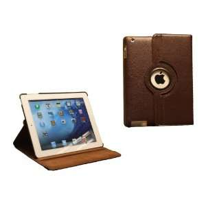 MiTAB Rotating Brown Bycast Leather Case / Cover & In Car
