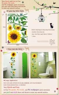 ECO 011 SUN FLOWER WALL REMOVER DECOR STICKER DECLAS
