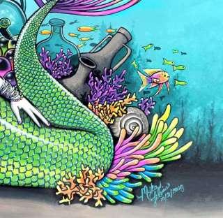 Tropical Rainbow Mermaid LTD PRINT Gothic Fairy ART