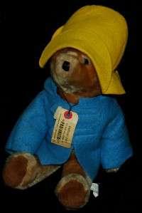 VTG Paddington Plush blue coat yellow hat 1975