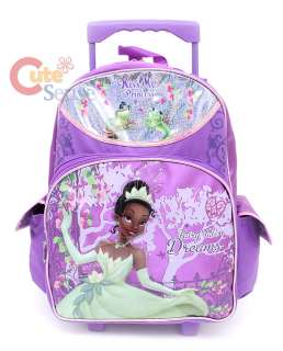 Princess Tiana School Large Roller Backpack w/Lunch Bag