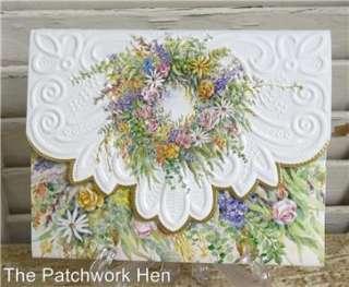 Wilson Floral Wreath Blank Note Card Set Embossed 095372021333