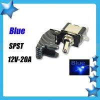 CARBON FIBER BLUE LIGHT LED RACING CAR TOGGLE SWITCH