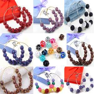 Poparazzi Inspired Crystal Resin Rhinestone Beads Earrings