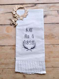 Shabby Cottage Chic French Style Hand Towel Cotton