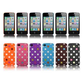 1PC Colorful Ball Polka Dot Hard Back Case Cover Skin For Apple iphone