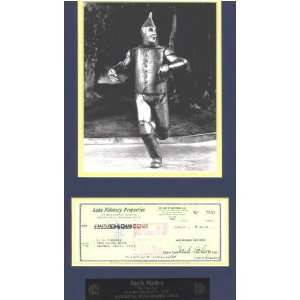 Fine Art Signed by Jack Haley (The Tin Man) & Plaque Toys & Games
