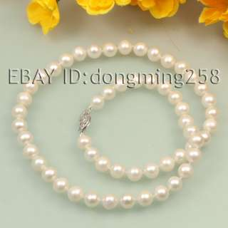 new 7 8mm black white pink ploychrome fresh water pearl necklace 15