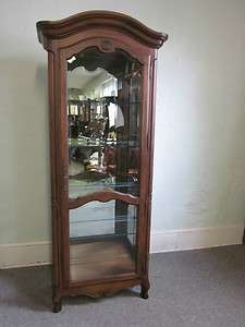 Ethan Allen Louis XV French style Beveled Glass Curio Cabinet